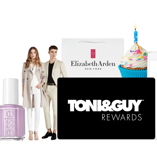 Rewards are in-store at TONI&GUY