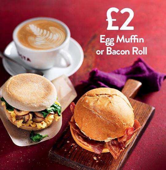 Breakfast is best at Costa