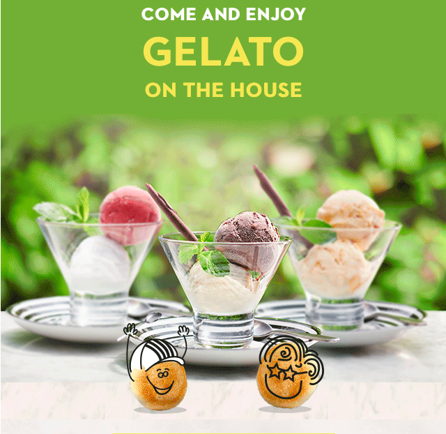 Free ice cream at Pizza Express