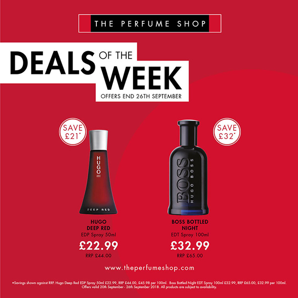 This week's deals at The Perfume Shop