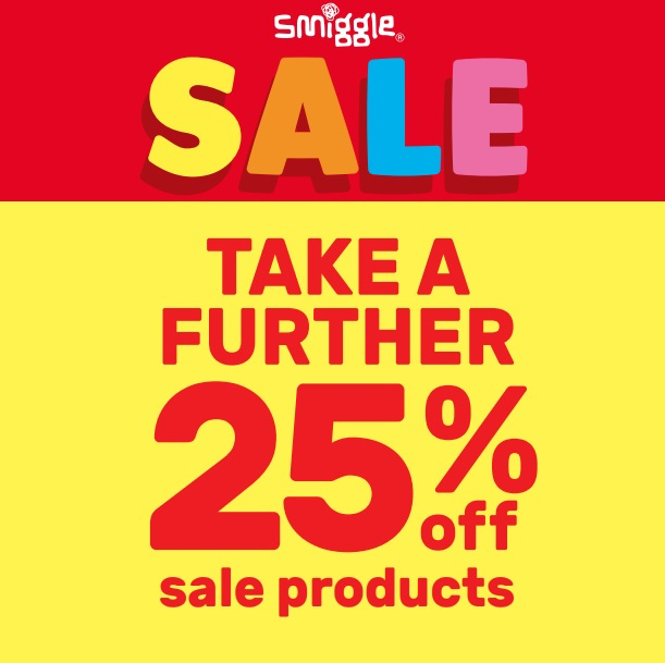 Take 25% off sale items at Smiggle