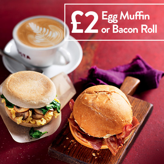 Breakfast bargains are at Costa