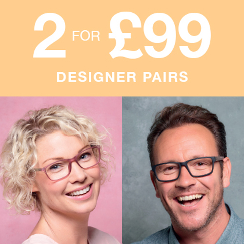 2 for £99 specs at Vision Express