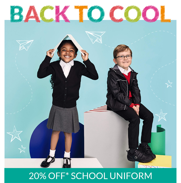 Take 20% off uniform at Debenhams