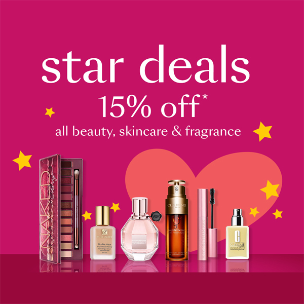Beauty brands cost less at Debenhams