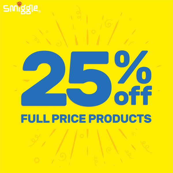 Gifts are 25% less at Smiggle