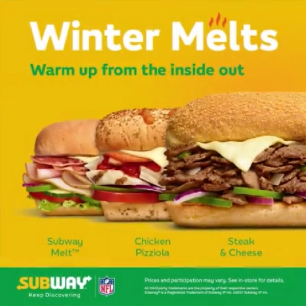 Lunch is sorted at Subway