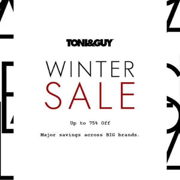 The Winter Sale is at Toni & Guy