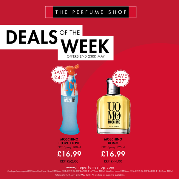 New deals at The Perfume Shop