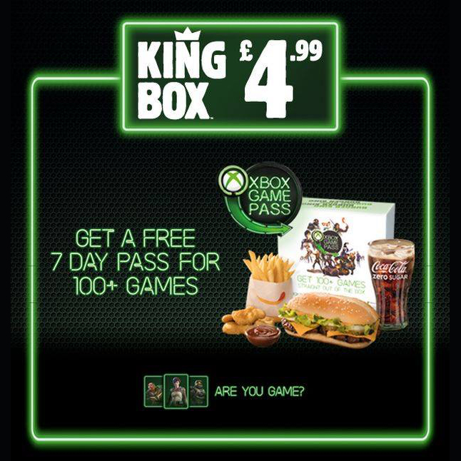 Pick up a Game Pass at Burger King