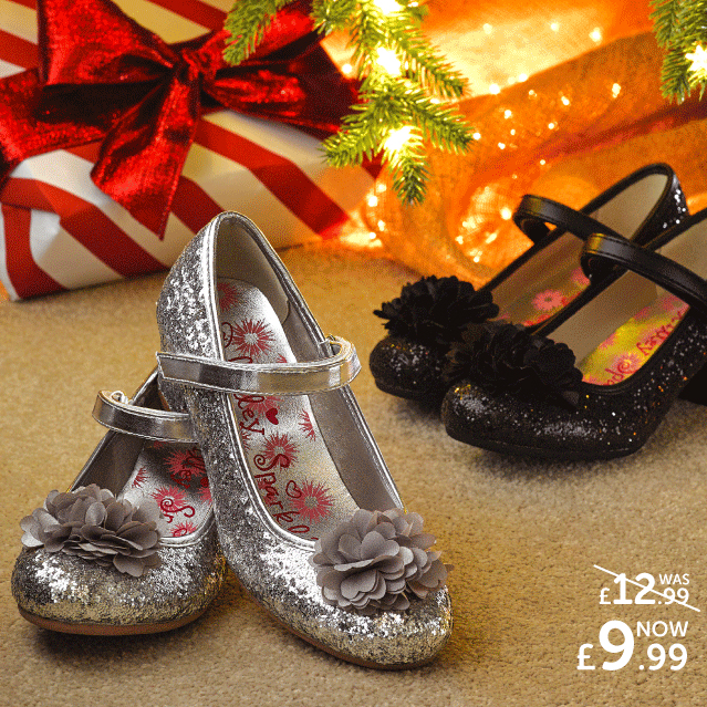 ef22ece115211 Your little one is going to love dancing the night away in a pair of these  super cute glitter party shoes by Lilley at Shoe Zone. Perfect for  Christmas time ...