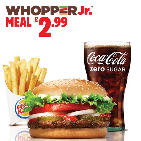 Get a WHOPPER JR.® meal at Burger King